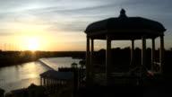 Philadelphia Waterworks sunset timelapse video