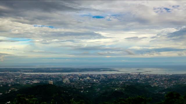 Philippines city cloudscape time lapse video