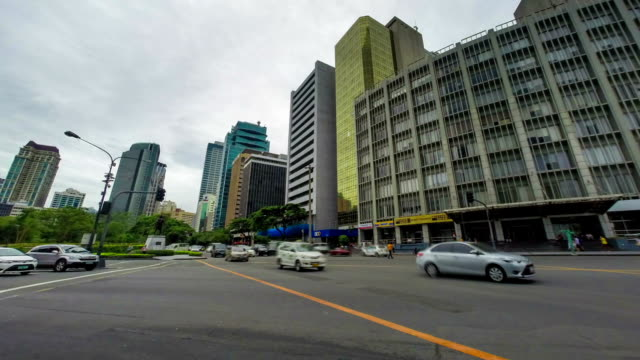 Philippines Manila city junction time lapse video