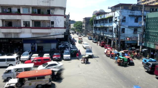 Philippines Manila city traffic time lapse video