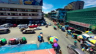 Philippines Manila city traffic time lapse video