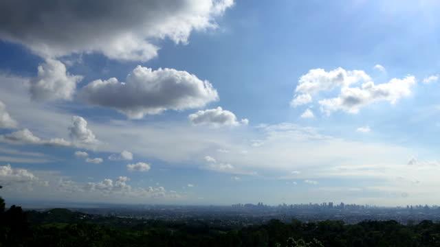 Philippines Manila distant skyline time lapse video