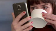 Phone and cup video
