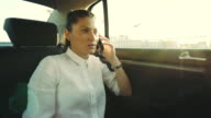 Phone conversation in the car. video