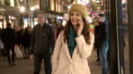 Phone night street video