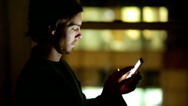 Phone night window.     CM video