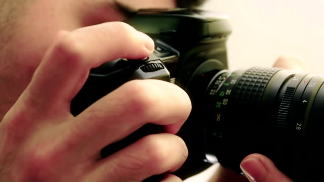 Photographer DSLR shooting video
