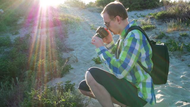 Photographer take picture of camera. Medium shot video