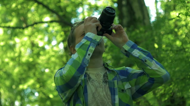 Photographer take picture of camera video