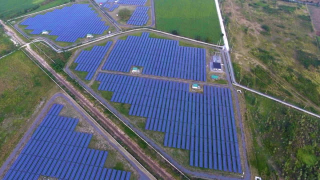 Photovoltaic Panels in Solar Power Station video