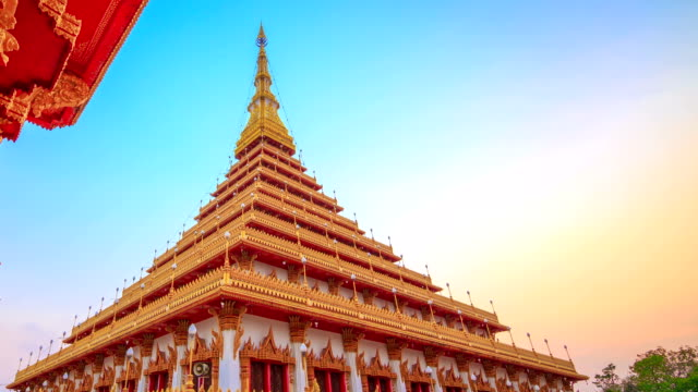 Phra Mahathat Kaen Nakhon temple, Khon Kaen Thailand video