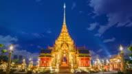 Phra merumas temporary architecture Royal funeral. video