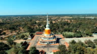 Phrathat Nadun. Aerial photograph Landmark Bird's-eye view video
