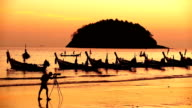 phuket island kata beach sunset thailand video