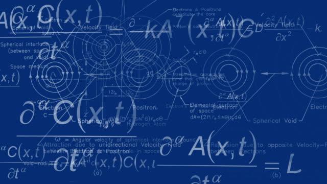 Physics background blueprint video