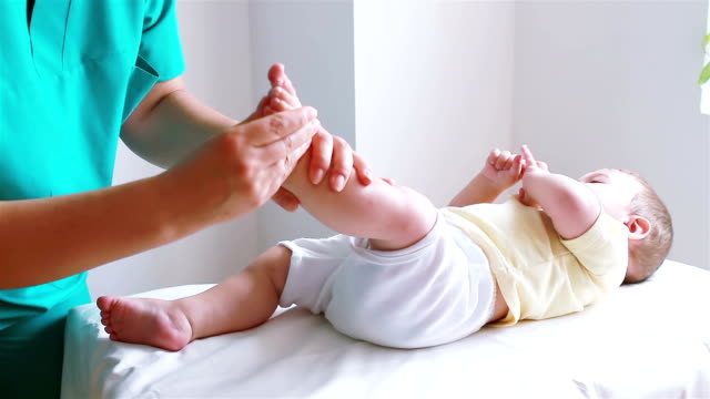 Physiotherapy for baby to foot video