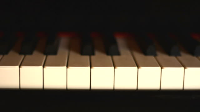 piano, keyboard piano, slide view of instrument musical tool. video