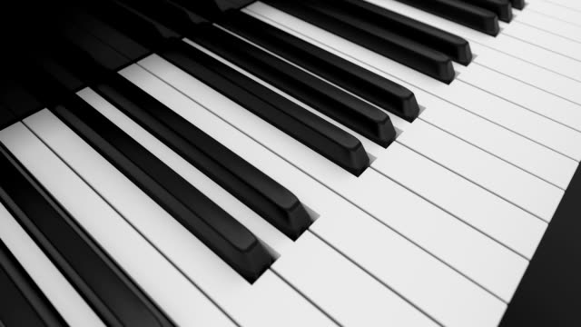 Piano keyboard video