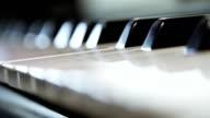 Piano keyboard video
