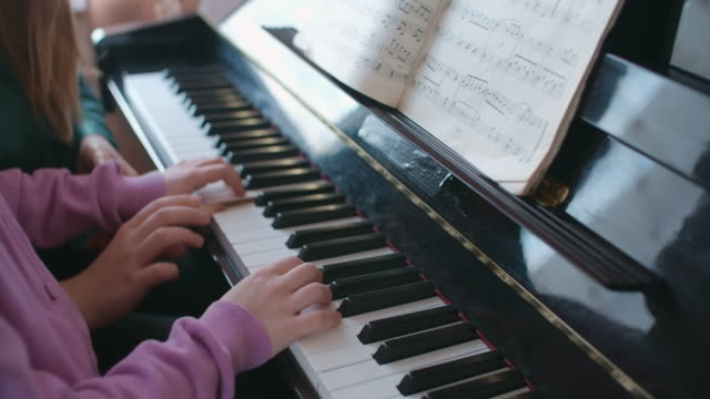 Piano lesson video