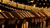 Piano mechanics inside hammers strings video