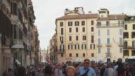Piazza di Spagna in Rome video