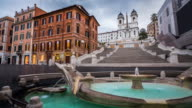 Piazza di Spagna with Spanish Steps in Rome, Italy video