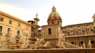 Piazza Pretoria or Piazza della Vergogna, Palermo, Sicily, Italy video