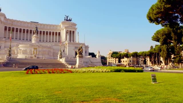 Piazza Venezia in Rome - Altar of the Fatherland video