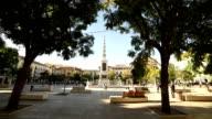 Picasso square in Malaga video
