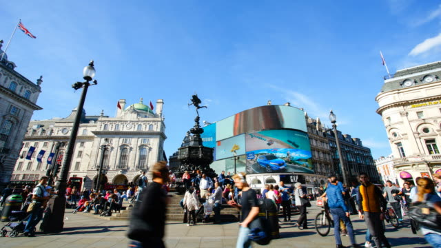 Piccadilly Circus Oxford & Regent street, London, England by time-lapse 4K video
