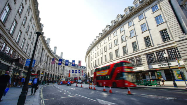 Piccadilly Circus Oxford & Regent street, London, England by time-lapse video
