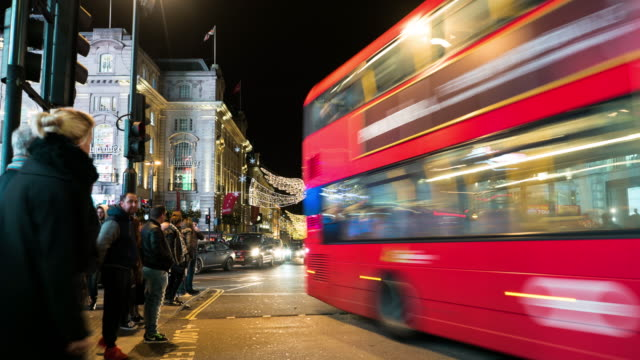 Piccadilly Circus,Time lapse. video