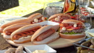 PAN Picnic table with lots of different food video