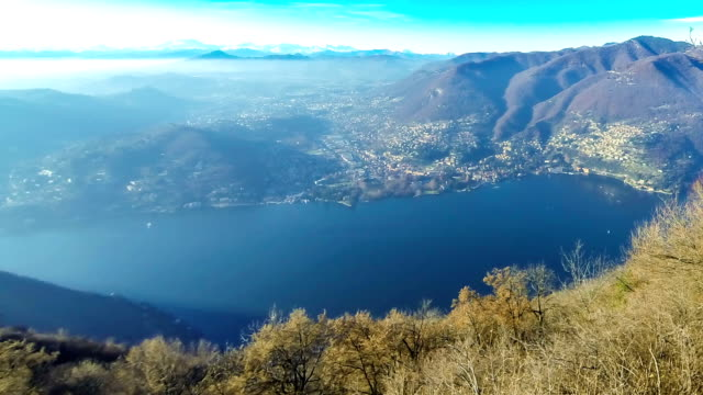 Picturesque panorama of Lake Como, Lombardy, Italy video