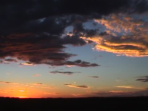 Picturesque sunset video