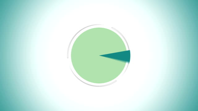 Pie chart indicated 100 percent, Infographics circle graph video