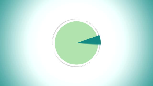 Pie chart indicated 90 percent, Infographics circle graph video