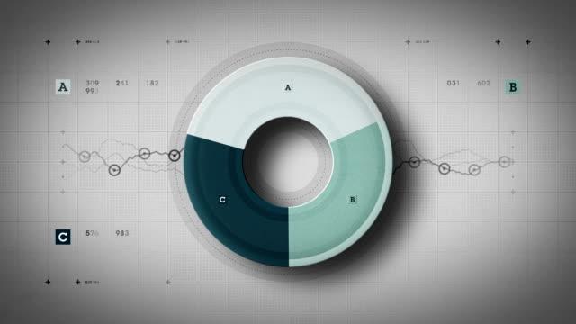 Pie Graph Loop Blue Lite video