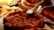 Pie in storefront. video