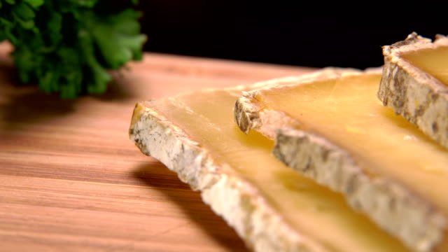 Pieces of hard sheep cheese video