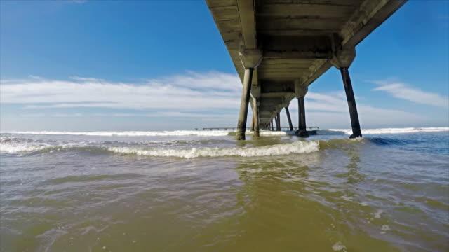 Pier in Brazilian Coast video