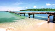 Pier on the beach video