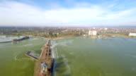 AERIAL Pier on the lake Balaton video