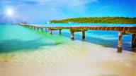 Pier to sun. video