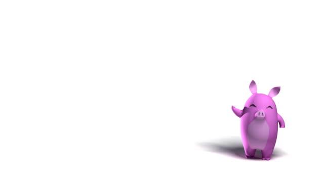 Pig run Loopable video
