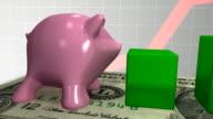 Piggy Bank Climbs Bar Chart video