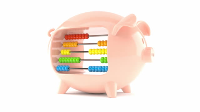 Piggy bank with abacus video