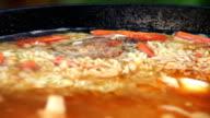 Pilaf Afghan, Uzbek, Tajik national cuisine dish cooking video