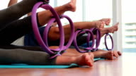 Pilates class using pilates rings video